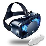 Casque VR, 3D Casque de Réalité Virtuelle avec Distance Rréglable Entre la Pupille et l'Objet, Vue Panoramique en 3D, Qualité d'image HD,pour iPhone/Android
