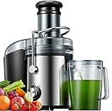Centrifugeuse Fruits et Légumes 800W, Centrifugeuse Extracteur de Jus Electrique, 2 Vitesses, Récipient à Jus Pulpe, Pieds Antidérapants, Sans BPA
