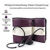 AMITD Bottes de Presso Compression d'air, Appareil de Massage pour Jambes et Pieds Electrique Masseur Genouillère Chauffant et Vibration pour Soulager Les Douleurs avec 10 Intensités