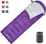 KingCamp Oasis 250 Momie léger Bon Sac de Couchage pour Camping Randonnée Trekking Chaud Peut être raccordé (Purple R)