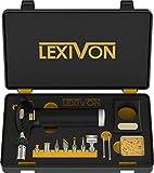 LEXIVON Lampe à souder au butane multi-fonctions | Station premium avec allumage intégré et flamme ajustable | Équivalent 125-Watt de qualité professionnelle (LX-771)