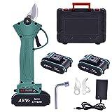 Careslong Sécateur électrique sans Fil Professionnel, Ecateur Rechargeable 2PCS pour Batterie au Lithium Rechargeable 2Ah, diamètre de Coupe 30mm, (Ciseaux électriques)