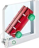 Tyroler Bright Tools Lave Vitre Magnétique Glider D-4 Double nettoyant intérieur et extérieur des vitres | Simple, Double ou Triple Vitrage 2-40mm | Force magnétique réglable