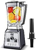 AMZCHEF Blender 2000W, Blender Smoothie, Mixeur Multifonction, Mixeur Puissant avec 8 Vitesses Réglables/4 Programmes Prédéfinis/25000tours/min/Jarre Tritan 2L sans BPA/Recette/Brosse de nettoyage