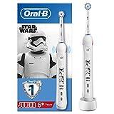 Oral-B Junior Brosse à Dents Électrique Rechargeable avec 1 Manche et 1 Brossette, enfant de 6 ans et plus, Pour un brossage en douceur, Édition Star Wars