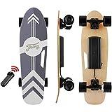 Tooluck 28 '' Skateboard Électrique, Planche à roulettes Électrique Vitesse de Maximale de 20 km/h, Moteur brushless 350W Longboard Électrique, Charge Maximale de 100KG (Noir)