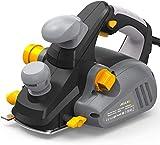 Rabot Électrique JELLAS, Rabot 850W 16500 tr/min atteignant 3 mm de profondeur de coupe, Double système d'extraction de poussière, Poignée auxiliaire, Béquille, EP01-SD