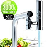 GEYSER EURO - Filtre  eau pour robinet de cuisine, purificateur d'eau avec matriau ultra-absorbant, filtre de robinet  montage longue dure avec commutateur, systme de purification de l'eau