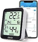 Govee Thermomètre Hygromètre Intérieur Petit Moniteur Mini Numérique à Haute Précision Capteur Humidité Température, LCD Bluetooth Stockage Données Maison Chambre Frigo Cave Garage Serre