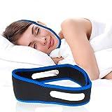 HYMANZ Dispositifs Anti Ronflement, Mentonnière Anti Ronflement Solution Ronflement Réglable Snore Stopper Strap pour Aide Sommeil Réduction Ronflement Mentonnière pour Hommes Femmes