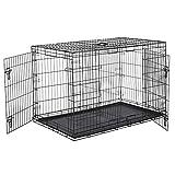 Amazon Basics Cage pliante en métal avec 2portes pour chien - 122 cm