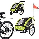 TIGGO World Convertible Jogger Remorque à Vélo 2 en 1, pour Enfants BT502-D02 Vert