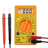 Electraline 59002 Multimètre Digital Electronique 6 Fonctions, 19 Calibres, Jaune