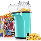 AICOOK Machine à Pop Corn, 1200W Retro Machine à Popcorn avec Air Chaud, Sans Gras Huile, Facile á L'utilisation[Classe énergétique A+++] (Vert)