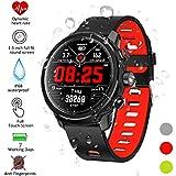 Qimaoo Montre Connectée Smartwatch Femmes Homme montre sport cardio IP68 Smart Watch L5 Tracker d'Activité avec Moniteur de Sommeil,Réveil,Notifications,GPS Podomètre Montre Connectée pour Android iOS