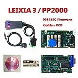 DingSheng PP2000 Lexia 3 V48 PP2000 V25 Lexia 3 Citroen Peugeot, Version Originale détecteur de Diagnostic de Voiture Version Simple Diag PP2000 Version multilingue