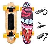Casulo 25,4 '' Skateboard Électrique avec Télécommande sans Fil, Planche à roulettes Électrique Vitesse de Maximale de 20 km/h, Moteur de 350 W pour Enfants/Adolescents et Adultes (Orange)