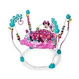 Bright Starts, Disney Baby Aire d'Eveil à Rebonds Minnie PeekABoo avec plus de 12 jouets, siège tournant à 360 degrés, musique et lumières
