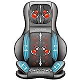 Comfier Siège Massant avec Compression d'Air et Roulement - Masseur de Dos Shiatsu avec Chaleur, Chaise Massage de Pétrissage pour le dos, le cou et les épaules, soulagement de la douleur