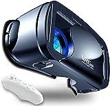 Casque VR, Casque Réalité 3D Virtuelle, Casque VR Compatible avec lPhone & Android Phone, Qualité d'image 2K HD & Lumière Anti-Bleue-Casque de Réalité Virtuelle pour Jeux et Films