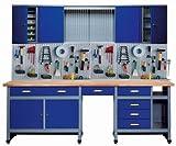 Kpper 70412-7 Atelier de bricolage, 240cm, fabriqu en Allemagne, couleur bleu marine
