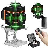 Niveau Laser 360°, KKmoon® 4D 16 Lignes Laser Rotatif Horizontal Vertical d'outil, Autonivelant de Niveau avec Fonction d'auto-nivellement avec Batterie Rechargeables 18650 Intégrées