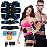 VICTOOM Electrostimulateur Musculaire, EMS Ceinture Abdominale Electrostimulation USB Charge, ABS Stimulateur Musculaire pour Abdomen Bras Jambes Formation Corps