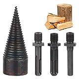 38mm Fendeuse de bûches,fendeuse à bois perceuse sûre,coin de fendage pour machine à bois de chauffage,Outil de coupe-bois super facile à fendre le bois