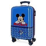 Disney Mickey Moods Valise Trolley Cabine Rouge 37x55x20 cms Rigide ABS Serrure à combinaison 32L 2,5Kgs 4 roues doubles Bagage à main