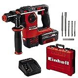 Einhell 4513975 HEROCCO Kit +5 (1x3,0Ah) Perforateur sans fil, Rouge/Noir
