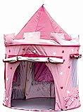 MaMaMeMo Enfants Princesse Pop Up Chateau - Tente Pop up Rose de Princesse- utilisable à l'intérieur ou à l'extèrieur grâce à sa Protection Anti-UV: Filles Rose Jouet Tente