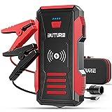 BuTure Booster Batterie, Crête 2500A, 23800mAh Démarrage de Voiture (Tout Gaz ou 8,0 L Diesel), Chargeur sans Fil10W et Portable Jump Starter 2 en 1