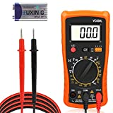 Multimètre Numérique, Zorara Multimètre AC/DC Voltmètre DC Résistance Transistor Diode Testeur de Tension Testeur de Tension avec écran LCD, Orange