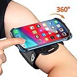 Bovon Brassard pour Smartphone, 360° Rotation Porte Téléphone Sport, Universel Armband Réglable pour Jogging & Gym Compatible avec iPhone 11 Pro Max/11/XR/XS Max/X/8, Samsung S20/S10 Plus/S10e etc
