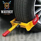 Warrior WA820 Antivol Voiture Sabot Roue Haute sécurité, Universelle, Réglable, Remorque Caravane, Protection Pvc, Serrure anti-perçage