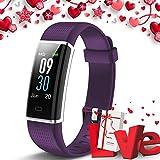 Lintelek Montre Connectée, Tracker d'Activité Cardiofréquencemètre avec Moniteur de Sommeil, Réveil, Notifications, Bluetooth Podomètre IP75 Etanche Montre GPS Connectée pour Femme Homme