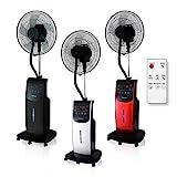 Dardaruga Digital Ventilateur Brumisateur d'air d'intérieur avec télécommandeT (Réservoir XXL 3,10 Litres) IONISEUR, ANTI-MOUSTIQUES et INSECTIFUGE, AROMA Compartiment, Minuterie programmable, ARGENT