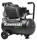 Compresseur Kawasaki, Compresseur à Air d'atelier, Mobile, 1 100 W, 8 bars, moteur à Induction, 220 V, réservoir 24 L, Puissance d'aspiration 165 L/min