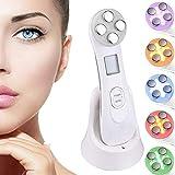 Dispositif de beauté ultrasonique, 5in1 dispositif multifonctionnel de beauté faciale, 6 modes Appareil de massage de mésothérapie de machine de beauté de LED