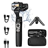 hohem iSteady Pro 3 Gimbal Stabilisateur pour Gopro Hero 8,3-Axis Gopro Gimbal Splash ProofContrôle WiFi Compatible avec Gopro Hero 8/7/6/5, Insta360 One R, DJI Osmo Sony RXO Caméra d'action
