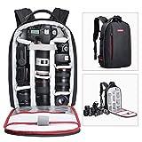 Beschoi Sac à dos étanche pour appareil photo reflex numérique Sony Canon Nikon Olympus SLR/DSLR Appareil photo et objectifs et accessoires Noir (grand format)