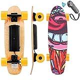 WOOKRAYS Planche à roulettes électrique, Skateboard électrique avec télécommande, Moteur 350W, Vitesse maximale 20KM / H, réglage à 3 Vitesses, pour Enfants, Adolescents et Adultes