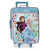 Disney Frozen La Reine des Neiges Awsome Moves Valise Trolley Cabine Bleu 35x50x16 cms Souple Microfibre & PVC 25L 1,8Kgs 2 roues Bagage à main