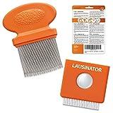 Peigne anti poux lentes Lausinator - en métal - original 3 en 1 très fin - dents très resserrées - pour enfant et adulte