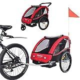 TIGGO World Convertible Jogger Remorque à Vélo 2 en 1, pour Enfants BT502-D01 Rouge
