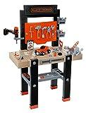 Smoby - 360701 - Etabli Bricolo Center - Black et Decker - + 92 Accessoires dont 1 Perceuse Mécanique - + 1 Application Ludo -Educative - + Voiture à Construire