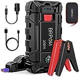 BRPOM Booster Batterie 3000A 26800mAh Démarreur de Batterie Portable Jump Starter pour Véhicule ( Jusqu'à 10L Gaz ou 8.0L Gazole) Démarrage de Voiture avec Pinces de Sûreté Intelligentes