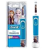 Oral-B Kids Brosse à Dents Électrique Rechargeable par Braun, 1Manche Disney La Reine des Neiges2, 3Ans et Plus