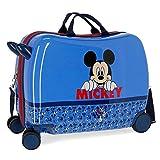 Disney Mickey Moods Valise Enfant Rouge 50x38x20 cms Rigide Polyester Serrure à combinaison 34L 2,1Kgs 4 roues Bagage à main