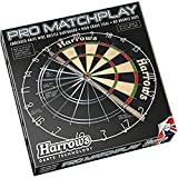 Harrows Matchplay Cible de flchettes Bristle Noir/rouge/blanc/vert